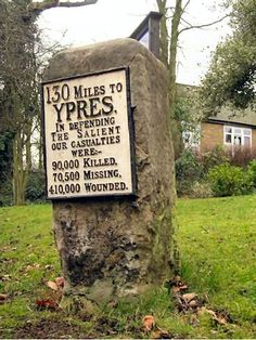 "Remember them - Found on the back of a milestone on Shooters Hill, London, England: ""If I should die, think only this of me: That there's some corner of a foreign field, That is forever England."" [Rupert Brooke]"
