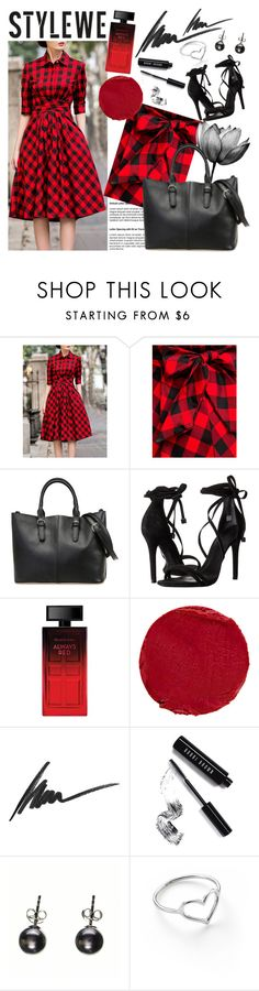 """""""STYLEWE 3"""" by gaby-mil ❤ liked on Polyvore featuring Schutz, Elizabeth Arden, Temptu, Max Factor, Bobbi Brown Cosmetics, Black, Jordan Askill, vintage, Leather and dress"""