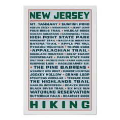New Jersey Hiking Trails poster :)