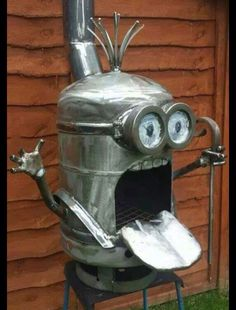 Nice pot belly stove with characters