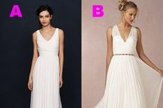 Can You Guess Which Wedding Dress Costs More