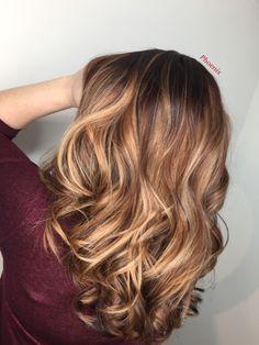 #ponytailbalayage #balayage #hairmakeover #hairtransformation #caramelhair #blondehair #chocolatehair #longhair #lightner #matrixsync