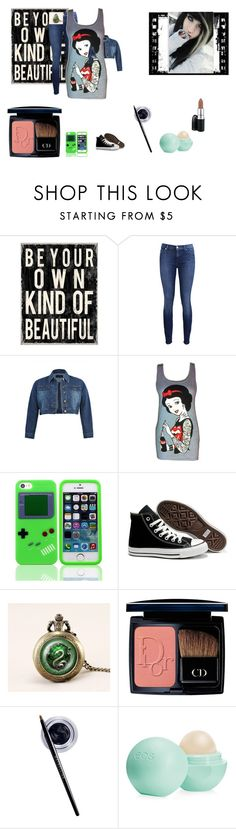Slytherin by hayhaybob on Polyvore featuring Disney, 7 For All Mankind, Converse, Christian Dior, MAC Cosmetics, Maybelline and Eos