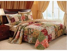 Amazon.com : french country bedrooms colors King Quilt Sets, King Size Quilt, Queen Quilt, Best Bedding Sets, Queen Bedding Sets, Country Bedding Sets, Chic Bedding, Quilt Bedding, Luxury Bedding