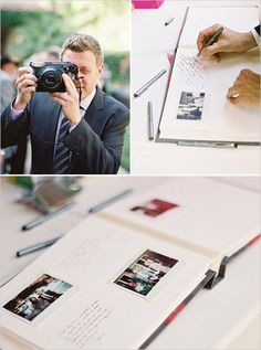 """ fuji instax guest book aka best guest book ever "" Wedding Bells, Diy Wedding, Wedding Favors, Wedding Reception, Wedding Photos, Dream Wedding, Wedding Decorations, Wedding Day, Hawaii Wedding"
