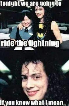 ~METALLICA~ Music Humor, Music Memes, Funny Music, Metallica Meme, Metal Meme, Band Jokes, Ride The Lightning, Kirk Hammett, Eddie Vedder