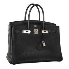 Forever Beauty Hermes Birkin Bag Black 35Cm Palladium
