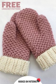 FREE Crochet Mittens Pattern Crochet Mittens pattern - a complete crochet tutorial for adult mittens (ALSO AVAILABLE is a matching baby pair) - These make lovely gift ideas, or just a craft project - get started by clicking though Crochet Mittens Free Pattern, Crochet Gloves, Free Crochet, Knit Crochet, Crochet Patterns, Diy Knitting Mittens, Knit Slippers Pattern, Free Baby Knitting Patterns, Crochet Baby Mittens