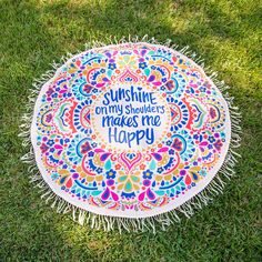 Round Beach Towel Blankets - Have more fun in the sun with these cute round Beach Towel Blankets! Use it as a towel or a blanket!