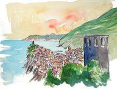 Vernazza Colorful Cinque Terre On Italian Riviera Limited