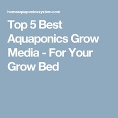 Top 5 Best Aquaponics Grow Media - For Your Grow Bed