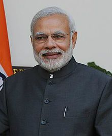 Marendra Modi (1950 - ) the 15th and current Prime Minister of India, in office since 26 May 2014.