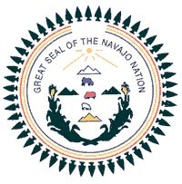 Forty eight projectile points or arrowheads symbolize the Navajo Nations protection within the forty eight states (as of 1952). Since then, two points have been added to represent the entire fifty states of the United States.