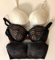 d0851acfad8d 3 Victoria's Secret Padded Underwire White Lace Black Lace VSX Sport Sz  34DDD #fashion #clothing #shoes #accessories #womensclothing  #intimatessleep (ebay ...