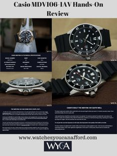 The is handsome for a diver, and it's absolutely as capable as its deep-water aesthetic suggests. Cool Watches, Rolex Watches, Water Aesthetic, Casio, Hands, Crystals, Tag Watches, Cool Clocks, Crystals Minerals
