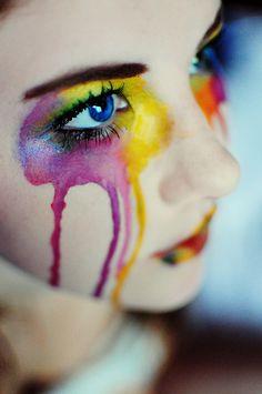 Rainbow | Arc-en-ciel | Arcobaleno | レインボー | Regenbogen | Радуга | Colours | Texture | Style | Form | Watercolor makeup | Brittney Borowski