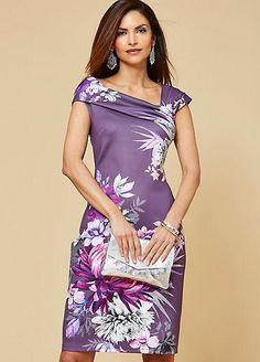 Floral Scuba Dress Source by kaleidoscope_uk bonitos Elegant Dresses, Pretty Dresses, Beautiful Dresses, Formal Dresses, Formal Dress Patterns, Cocktail Dresses With Sleeves, Scuba Dress, Vintage Inspired Dresses, Wrap Dress Floral