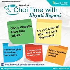https://www.facebook.com/events/1114187802010132/?ti=cl Attend Chai time with Khyati Rupani tomorrow on Facebook live and get your answers :)