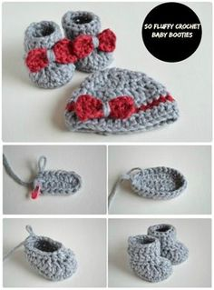 17 Free Crochet Baby Booties Pattern / Crochet Baby Shoes DIY FLUFFY Crochet Baby Booties – 17 kostenlose Crochet Baby Booties Muster / Crochet Babyschuhe – Seite Four von 4 – I Heart Crafty Knitting/Crochet (Visited 19 times, 1 visits today) Crochet Baby Boots, Crochet Baby Clothes, Newborn Crochet, Crochet Slippers, Cute Crochet, Booties Crochet, Crochet Shoes, Knitted Baby, Crotchet