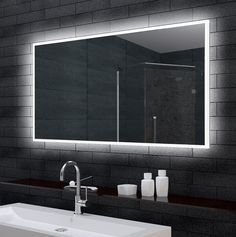 Zrcadlo 140 x 70 cm s LED osvětlením Decor, Furniture, Bathroom Lighting, Lighted Bathroom Mirror, Led, Home Decor, Bathroom Mirror, Bathroom, Mirror