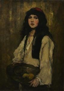 The Venetian Girl - (Frank Duveneck)
