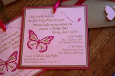 Beautiful Butterfly (invitation wording)