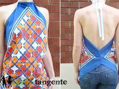 Tangente Repurposes Vintage Scarves into Dazzling Tops