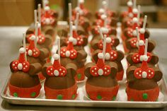 #Disney #christmas #apples #chocolate #Mickey #Minnie