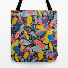 Memphis Inspired Pattern 1 Tote Bag by Season of Victory - $22.00 design