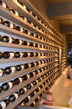 An impressive wine wall at Bistro 1862 @ Steenberg - Picture of Bistro Constantia - Tripadvisor Restaurant Design, Restaurant Bar, Restaurant Interiors, Wine Cellar Basement, Home Wine Cellars, Cigar Room, Wine Wall, Tasting Room, Wine Storage