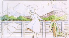 artbooksnat:  A selection of animation layouts for Studio Ghibli's The Wind Rises (風立ちぬ) from The Wind Rises Roman Album Extra (Amazon US | JP), with a focus on the romance between Jiro Horikoshi and Naoko Satomi.