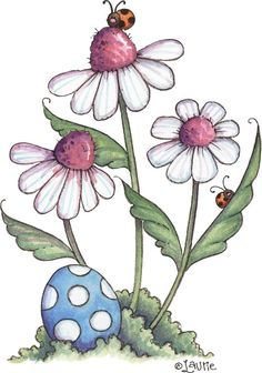 illustrations by L. Tole Painting, Fabric Painting, Painting & Drawing, Pintura Country, Doodle Art, Pintura Tole, Country Paintings, Flower Doodles, Watercolor Cards