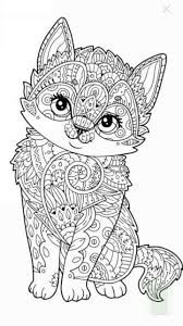cat Abstract Doodle Zentangle Coloring