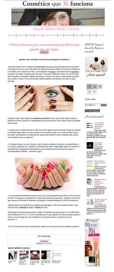 Blog #Cosmeticaquesifunciona, Abril 2015. Kit #manicura #7dayDepend.