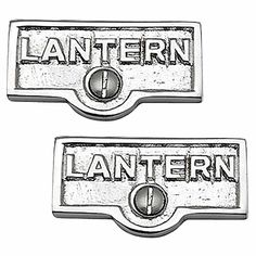 2 Switchplate Chrome Over Brass LANTERN Switch Tag Chrome 1 11/16 in. W