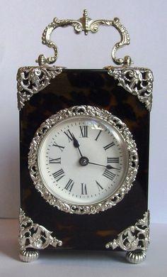 OnlineGalleries.com - Striking Carriage Clock. Antique Clock