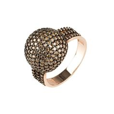 Sparkling Orb Ring  Chocolate CZ