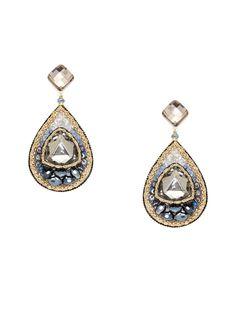 Pretty pretty! Multi Stone Tear Drop Earrings by Leslie Danzis