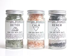 Dead Sea Bath Salt Set by Herbivore Botanicals