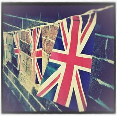 5x5  British Bunting Union Flag Jubilee Tea Party by Photomagpie, pinned by www.funkyfabrix.com.au