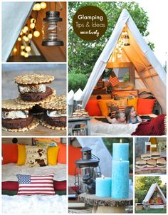 Glamping Tips and Ideas via MakeLifeLovely.com >> #WorldMarket #camping ideas, Tips, Decor, #Glamping, Outdoor #Smores