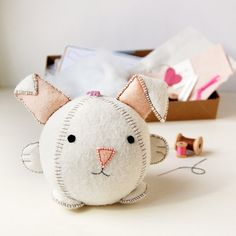 Make Your Own Rabbit Toy Craft & Sewing Kit by claraandmacy ~ This would make a fun Easter basket addition for the crafty loved one! ~ ♥