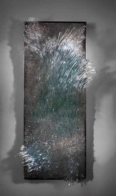 "Shayna Leib, glass artist.  This piece is titled 'Stiniva 3/5', 2013 (36"" H x 14""W x 8"" D)"