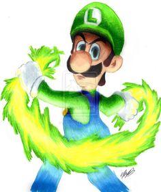 Epic Luigi by on DeviantArt Super Mario Bros Luigi, Super Mario Bros Nintendo, Super Mario Art, Super Mario Brothers, Metroid, Luigi And Daisy, Green Warriors, Mario Fan Art, Mario And Princess Peach