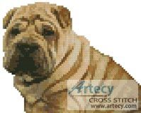 Mini Shar-Pei Cross Stitch Pattern http://www.artecyshop.com/index.php?main_page=product_info&cPath=11_12&products_id=748