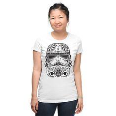 Sugar Skull Trooper Fitted Ladies' T-Shirt - Star Wars T-Shirt