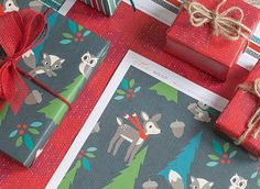 MollyMooCrafts Free Christmas Printables, gift tags, paper ornaments, wrapping paper