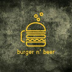 Burger n' beer logo. #beer #logo #logodesign #logoinspiration #design #vector #art #illustration #logodesign #burger #food Food Logo Design, Beer Logo Design, Logo Food, Beer Burger, Burger Food, Burger Restaurant, American Burgers, Bar Logo, Food Advertising