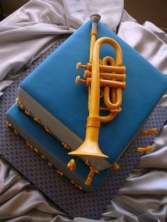 trumpet cake | Trumpet Groom's Cake | Flickr - Photo Sharing!