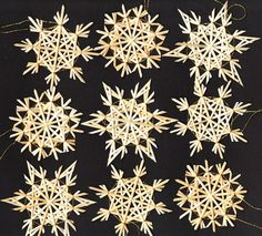German Strohsterne (Straw Stars) Christmas Ornaments....lovely